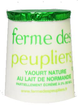 Yaourt nature au lait partiellement écrémé