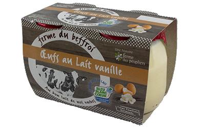Dessert Œufs au lait vanille